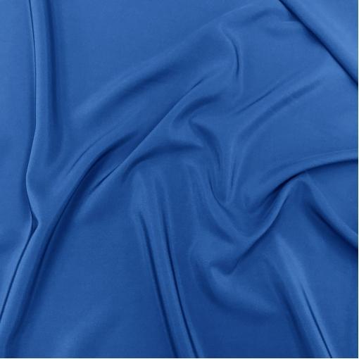 Шелк креповый с ацетатом сине-василькового цвета