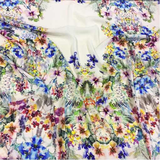 Вискоза креповая принт Blumarine акварельные цветы