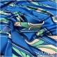 Вискоза плательная плотная стрейч принт PUCCI синие полосы