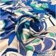 Вискоза плательная плотная стрейч дизайн PUCCI в синей гамме
