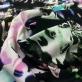 Трикотаж вискозный скользкий принт Piero Moretti розовые цветы на черном фоне