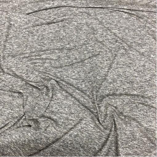 Трикотаж вискозный нарядный стрейч меланж с люрексом золотисто-синего цвета