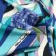 Трикотаж вискозный скользкий принт Piero Moretti геометрия и гиацинты в сиренево-голубых тонах