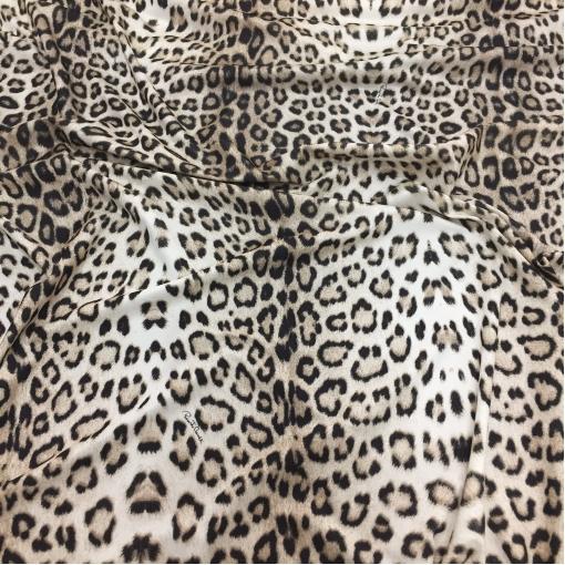 Трикотаж вискозный стрейч принт Roberto Cavalli леопард