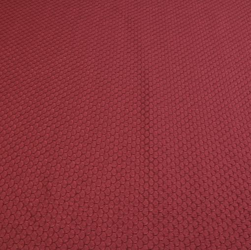 Темно-вишневый шелковый жаккард с рисунком «рыбная чешуя»