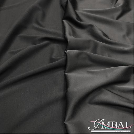 Кади вискозное матово-атласный стрейч черного цвета
