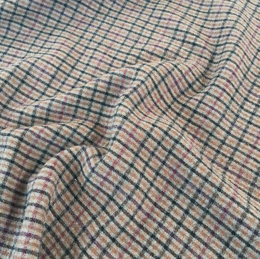 Пальтово-костюмная шерсть принт Burberry в клетку