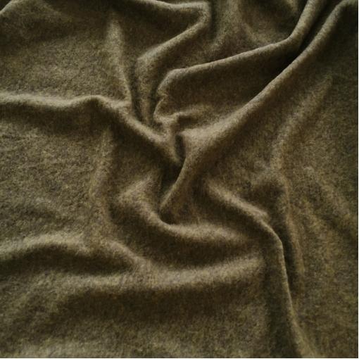 Лоден шерстяной стрейч золотисто-оливкового цвета