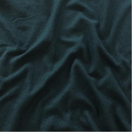 Лоден шерстяной стрейч цвета темный изумруд