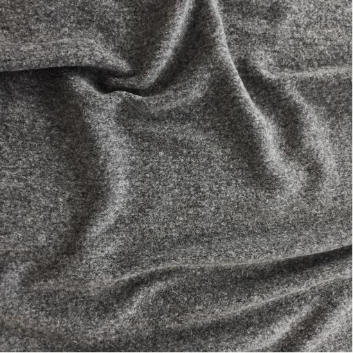 Лоден шерстяной стрейч средне-серый меланж