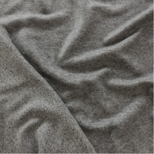 Трикотаж шерстяной мягкий двухсторонний Sportmax серый меланж