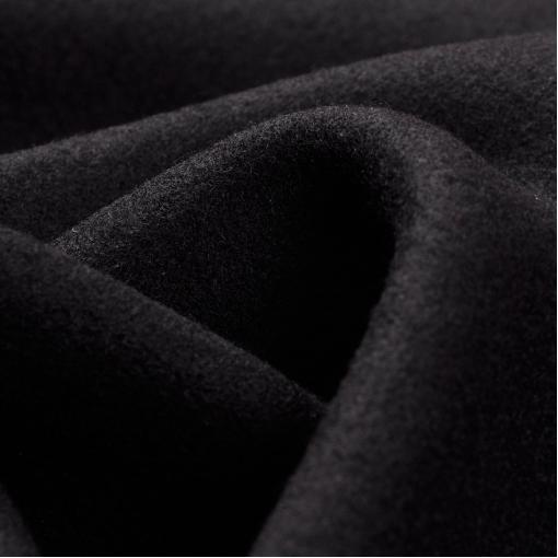 Шерстяной лоден черного цвета с ангорой