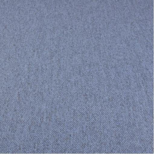 Вязанный шерстяной трикотаж грязно-голубого цвета с твидовым рисунком