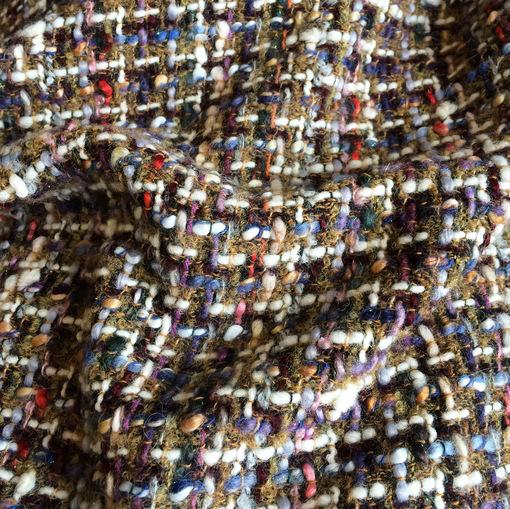 Шанель шерстяная в коричневых тонах