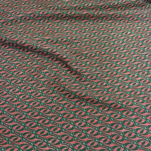 Жаккард принт Prada шерстяной с серебристым люрексом