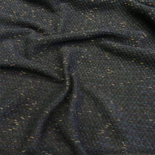 Шанель синяя с золотым люрексом и синей нитью