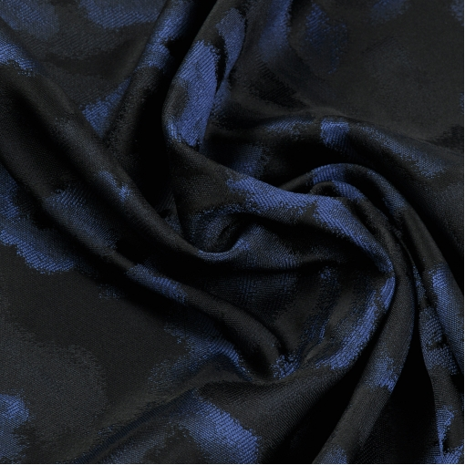 Жаккард черно-синий