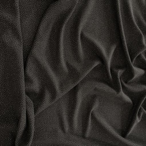 Креп шерстяной стрейч Valentino черный с люрексовыми точками