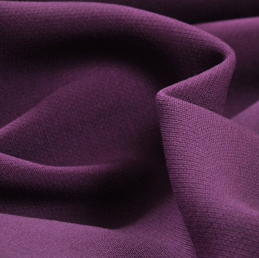 Костюмная шерстяная ткань темно-сиреневая