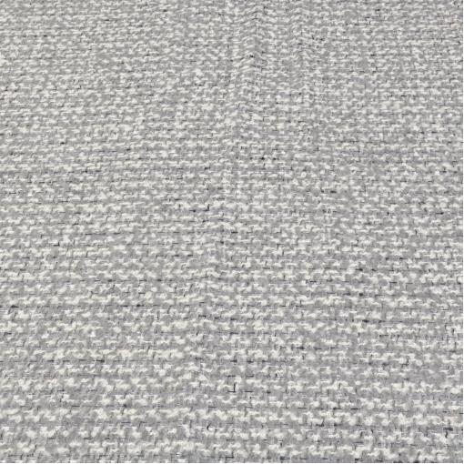 Нарядная зимняя шанель серо-белого цвета