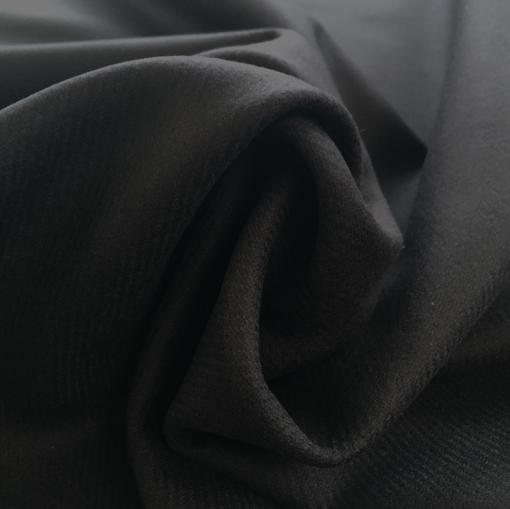 Ткань пальтовая Burberry в легкую диагональ черно-синего цвета