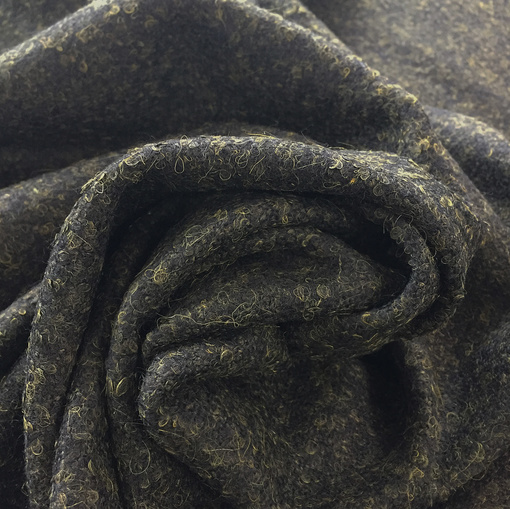 Букле пальтовое Sportmax цвета темного хаки с разводами