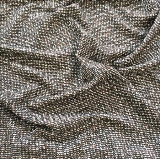 Ткань легкая пальтовая Burberry пье-де-пуль в молочно-кофейных тонах