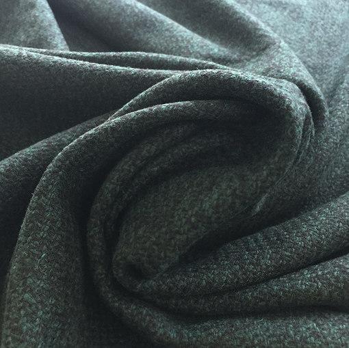 Ткань пальтовая легкая Sportmax бутылочного цвета