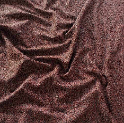 Ткань пальтовая легкая Sportmax красно-черное плетение