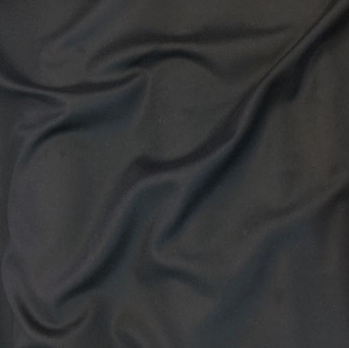 Ткань пальтовая легкая черно-синего цвета