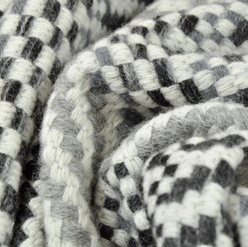 Пальтовая ткань в елочку в серо-бежевых тонах