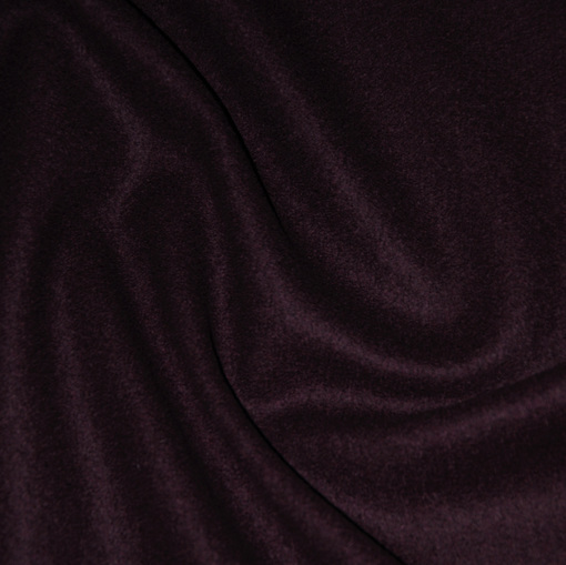 Пальтовая ткань баклажанного цвета типа сукна