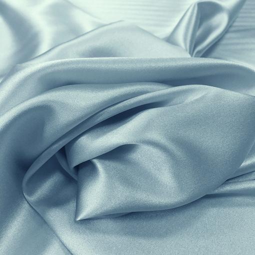 Шелк атлас стрейч La Perla небесно-голубого цвета
