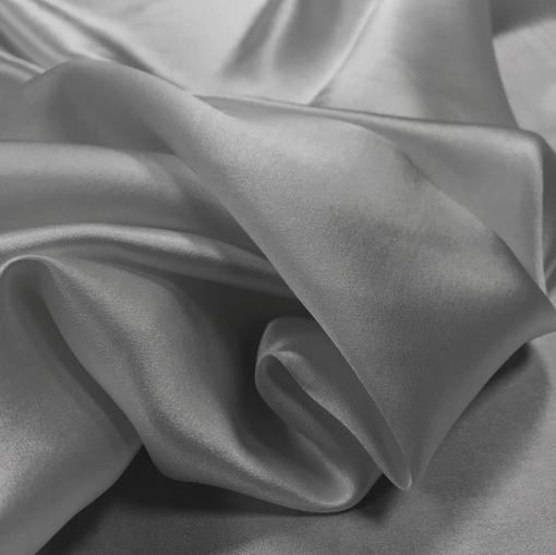 Шелк атлас стрейч La Perla средне-серого цвета
