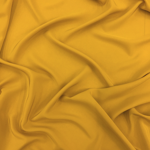 Шелк креповый непрозрачный горчичного цвета