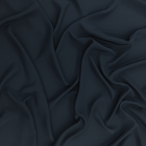 Шелк креповый непрозрачный темно-синего цвета