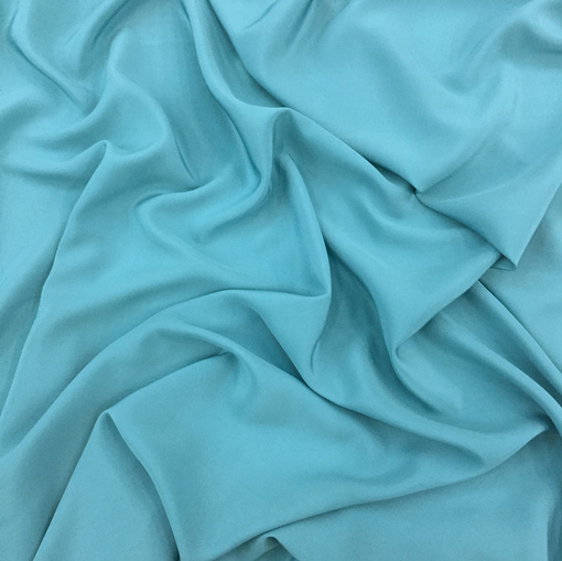 Шелк креповый непрозрачный цвета голубой бирюзы