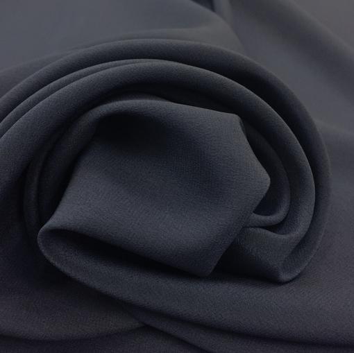 Шелк креповый сине-черничного цвета