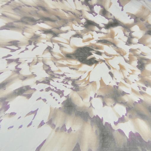 Шелк шифон купон с крупным цветком Пиона