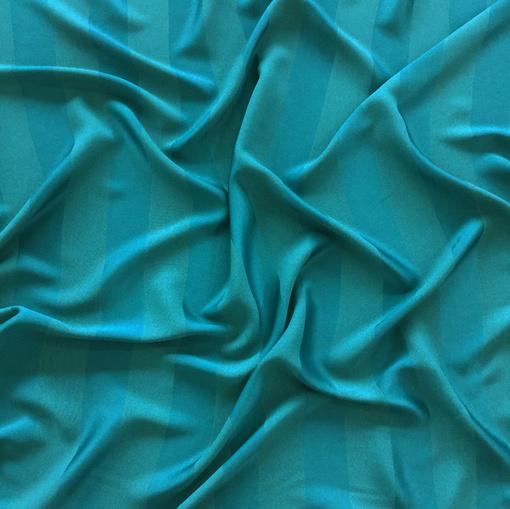 Вискоза плательная принт Armani в полоску цвета морской волны