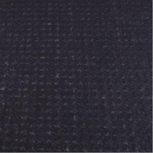 Черный шерстяной трикотаж вязаный с не ярко выраженной вязкой пье-де-пуль