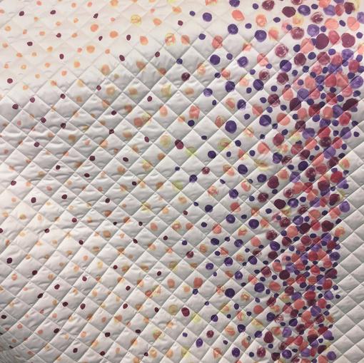 Ткань курточная стеганая купон горох
