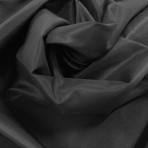 Ткань курточная шелковая с пропиткой черного цвета