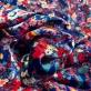 Панбархат на шелковой основе дизайн Aspesi цветочная поляна в синих тонах