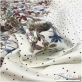 Хлопок пике стрейч принт Blumarine двухсторонний купон и горохи на молочном фоне