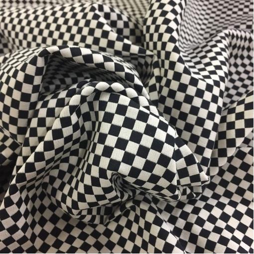 """Жаккард хлопковый стрейч принт Christian Dior """"шахматная доска"""""""