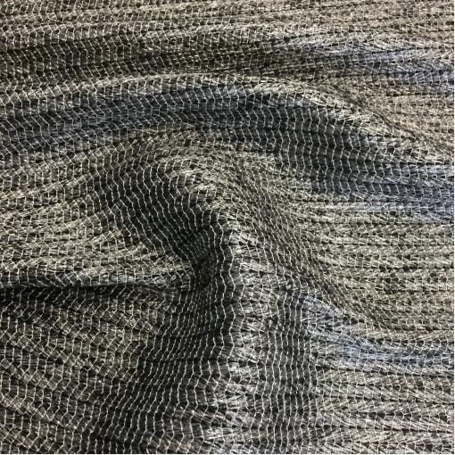 Жаккард нарядный шерстяной Ferragamo черного цвета с серым люрексом