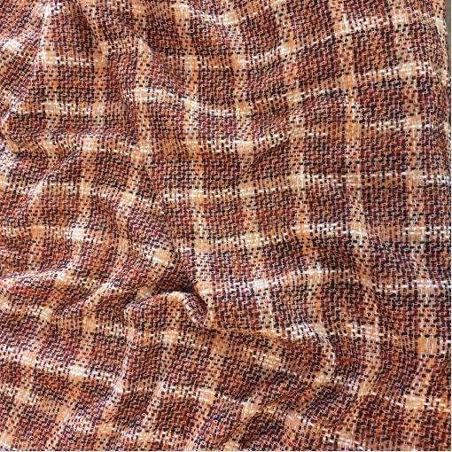 Шанель нарядная шерстяная терракотово-розового плетения