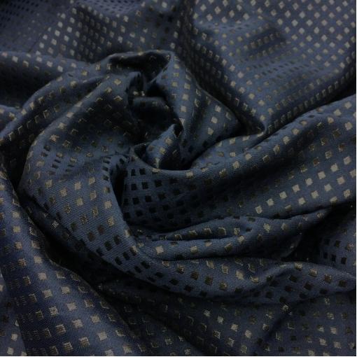 Жаккард нарядный темно-синего цвета Armani с люрексовыми ромбиками