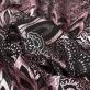 Жаккард нарядный Ferragamo растительный орнамент с розовым люрексом